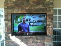 Flat Panel Television on Stone
